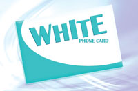 White Phone Card