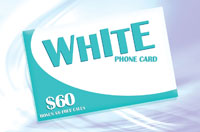 White Phone Card $60